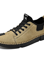 cheap -Men's Light Soles Pigskin Summer Casual Loafers & Slip-Ons Hiking Shoes Non-slipping Black / Gray / Khaki