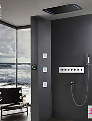 cheap -Thermostatic Shower Faucet - Contemporary Chrome Wall Mounted Ceramic Valve