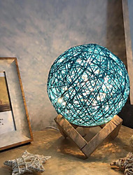 cheap -Creative LED Rattan Ball Night Light Button Control Projection Lamp Table Light USB Charging