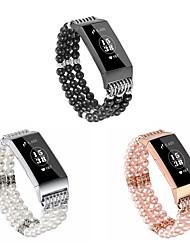 Недорогие -Ремешок для часов для Fitbit Charge 3 Fitbit Дизайн украшения Керамика Повязка на запястье