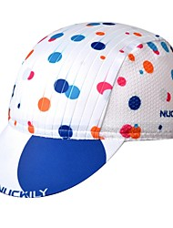 cheap -Nuckily Cycling Cap / Bike Cap Visor Polka Dot UV Resistant Breathable Quick Dry Sweat-wicking Bike / Cycling White Black Spandex for Men's Women's Teen Adults' Road Bike Outdoor Exercise