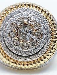 cheap -Men's Ring 1pc Gold Rhinestone Alloy European Hip Hop Daily Jewelry