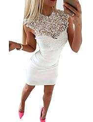 cheap -Women's White Black Dress Bodycon Sheath Stand S M