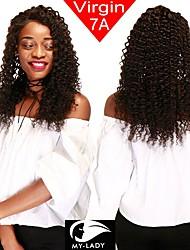 Недорогие -4 Связки Бразильские волосы Крупные кудри человеческие волосы Remy 200 g Человека ткет Волосы Пучок волос Накладки из натуральных волос 8-28 дюймовый Естественный цвет Ткет человеческих волос