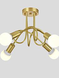 cheap -OYLYW 4-Light 50 cm New Design Chandelier Copper Sputnik Brass Nature Inspired / Modern 110-120V / 220-240V / E26 / E27