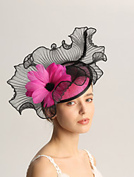 cheap -Flax / Feathers Fascinators with Feather 1pc Wedding / Special Occasion Headpiece