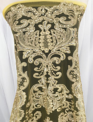 cheap -Sequin Baroque art Embroidery 125 cm width fabric for Special occasions sold by the 0.5m