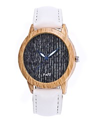cheap -Women's Quartz Watches New Arrival Fashion Black Brown Bronze PU Leather Chinese Quartz Black Sky Blue Gray Casual Watch Wooden Large Dial 30 m 1 pc Analog One Year Battery Life