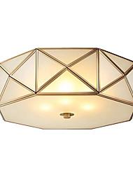 cheap -JSGYlights 4-Light 42 cm Flush Mount Lights Copper Glass Geometrical Brass Modern 110-120V / 220-240V / E26 / E27
