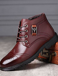 cheap -Men's Fashion Boots PU Fall & Winter Boots Booties / Ankle Boots Black / Brown / Coffee