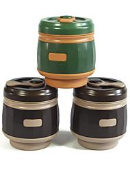 Недорогие -чайник Бутылки для воды 500 ml Силиконовые PP Портативные Складной Водонепроницаемый футляр для работа Путешествия Альпинизм 1 pcs Зеленый Серый Красный Кофейный