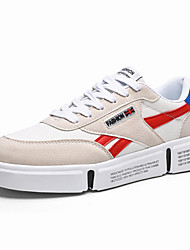 cheap -Men's Suede Shoes Suede / Canvas Fall & Winter Sporty / Casual Sneakers Walking Shoes Breathable Beige / Gray / Athletic / Light Soles