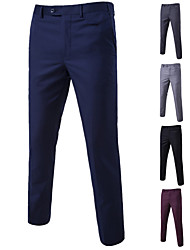 cheap -Men's Basic Dress Pants Chinos Pants - Solid Colored Wine Black Blue M / L / XL