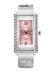 Недорогие -Жен. Часы-браслет Мода Элегантный стиль Черный Белый Красный сплав Китайский Кварцевый Красный Розовый Лиловый Повседневные часы Имитация Алмазный Милый Аналоговый