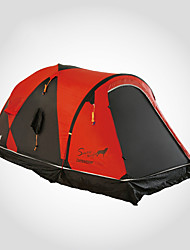 cheap -LONGSINGER 2 person Family Tent Outdoor Breathability YKK Zipper Double Layered Poled Camping Tent 2000-3000 mm for Camping / Hiking / Caving Traveling Nylon 75+210+75*135*115        210*125*110 cm