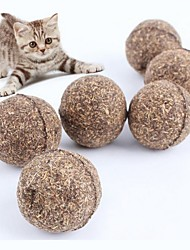 cheap -Pure Natural Catnip Ball, 3.2CM Safe And Edible Catnip Chase Toy, Emotionally Soothing Cat Hair Cleaning Pet