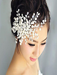 cheap -Beads Hair Combs with Pearl / Flower 1 Piece Wedding / Party / Evening Headpiece