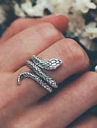 cheap -Men's Ring 1pc Silver Alloy Trendy Fashion Daily Street Jewelry Retro Snake Cool