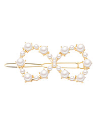 cheap -Women's Ladies Work Fashion Elegant Imitation Pearl Alloy Solid Colored