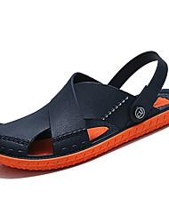 cheap -Men's Comfort Shoes PU Summer Casual Slippers & Flip-Flops Non-slipping Color Block Orange / Green / Khaki