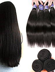 cheap -6 Bundles Indian Hair Straight 100% Remy Hair Weave Bundles Natural Color Hair Weaves / Hair Bulk Bundle Hair Human Hair Extensions 8-28 inch Natural Color Human Hair Weaves Odor Free Soft Silky