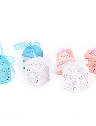 cheap -Cubic Cardboard Favor Holder with Ribbons Household Sundries / Home Decroration / Cake Topper - 50 pcs