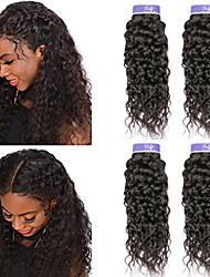 cheap -4 Bundles Peruvian Hair Water Wave Virgin Human Hair 100% Remy Hair Weave Bundles Headpiece Natural Color Hair Weaves / Hair Bulk Bundle Hair 8-28 inch Natural Color Human Hair Weaves Odor Free