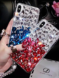 cheap -Case For Apple iPhone XS / iPhone XR / iPhone XS Max Rhinestone Back Cover Color Gradient Hard TPU