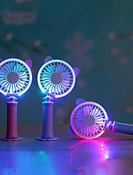 cheap -Mini Handheld Fan Portable Travel Fan With Night Light   USB Powered for Office and Indoor 5V
