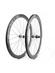 cheap -FARSPORTS 700CC Wheelsets Cycling 26 mm Road Bike Carbon Fiber Clincher / Tubeless Compatible 24/24 Spokes 50 mm / 45 mm