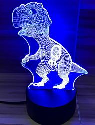cheap -1pc LED Creative  Dinosaur Night Light Color-changing USB <=36 V