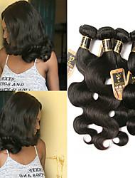 Недорогие -4 Связки Бразильские волосы Естественные кудри 100% Remy Hair Weave Bundles 400 g Человека ткет Волосы Пучок волос Накладки из натуральных волос 8-28 дюймовый Естественный цвет Ткет человеческих волос