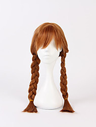 cheap -Princess Cosplay Costume Cosplay Wigs Flower Girl Dress Girls' Movie Cosplay A-Line Slip Cosplay Halloween Brown Wig Christmas Halloween Carnival Silk / Cotton Blend