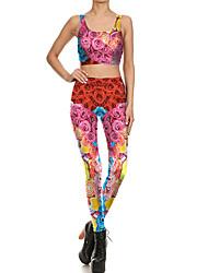 cheap -Catsuit Swimsuit Swimwear Cosplay Costumes Beach Girl Adults' Cosplay Costumes Cosplay Halloween Women's Fuchsia Flower Christmas Halloween Carnival / Vest / Pants / Vest / Pants