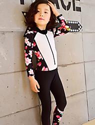 abordables -Fille Combinaison Fine Combinaisons Protection solaire UV Coque Intégrale Natation Plongée Peinture Eté / Micro-élastique / Enfant