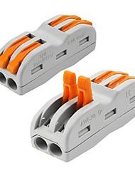 Недорогие -ZDM® 2pcs Аксессуары для ламп / Газонокосилка Пластиковые & Металл Электрический разъем для светодиодной полосы света