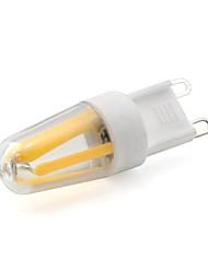 Недорогие -1шт 2 W Двухштырьковые LED лампы 200 lm G9 T 4 Светодиодные бусины COB Тёплый белый Белый 220-240 V / RoHs
