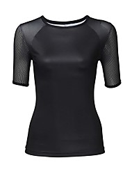 cheap -ILPALADINO Women's Short Sleeve Cycling Jersey Black Plus Size Bike Jersey Top Mountain Bike MTB Road Bike Cycling UV Resistant Breathable Quick Dry Sports Elastane Terylene Clothing Apparel