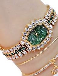 cheap -Women's Bracelet Watch Quartz Watches Analog Quartz Glitter Sparkle Luminous Imitation Diamond / Two Years