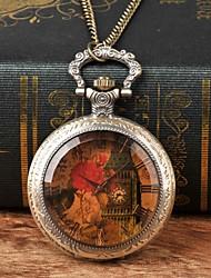 cheap -Men's Pocket Watch Quartz Bronze New Design Casual Watch Analog New Arrival Elegant - Bronze
