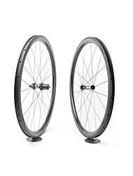 cheap -FARSPORTS 700CC Wheelsets Cycling 28 mm Road Bike Carbon Fiber Clincher 20/24 Spokes 38 mm