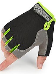 Недорогие -нетканые перчатки для мотоциклетных половинных пальцев / нетканые из углеродного волокна / воздухопроницаемые / солнцезащитные