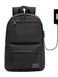 cheap -Canvas Zipper School Bag Solid Color Outdoor Light Grey / Wine / Khaki / Fall & Winter