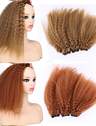 cheap -Laflare Ombre Synthetic Extentions Curly Synthetic Hair Medium Length Hair Extension Hair weave 3 Pieces Cosplay Adjustable Best Quality Women's Christmas Wedding Halloween