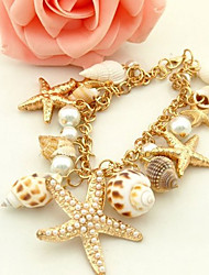 cheap -Women's Charm Bracelet Classic Starfish Classic Sweet Fashion Cute Elegant Imitation Pearl Bracelet Jewelry White For Graduation Daily Carnival Club Festival
