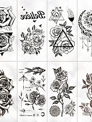cheap -8 pcs Temporary Tattoos Water Resistant / Best Quality Face / Hand / brachium Tattoo Stickers