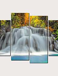 cheap -Print Rolled Canvas Prints - Beach Theme Landscape Classic Modern Four Panels Art Prints