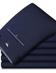 abordables -Homme Basique Mince Costume Pantalon - Couleur Pleine Classique Bleu Noir 34 36 38