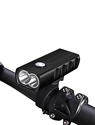 cheap -LED Bike Light Front Bike Light Headlight Flashlight LED Mountain Bike MTB Bicycle Cycling Waterproof Super Brightest Portable Easy to Install Rechargeable Battery 18650 800 lm USB DC 5V 18650