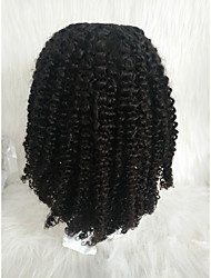 cheap -Human Hair Lace Front Wig Free Part style Brazilian Hair Afro Curly Black Wig 130% Density Women Women's Short Others Clytie